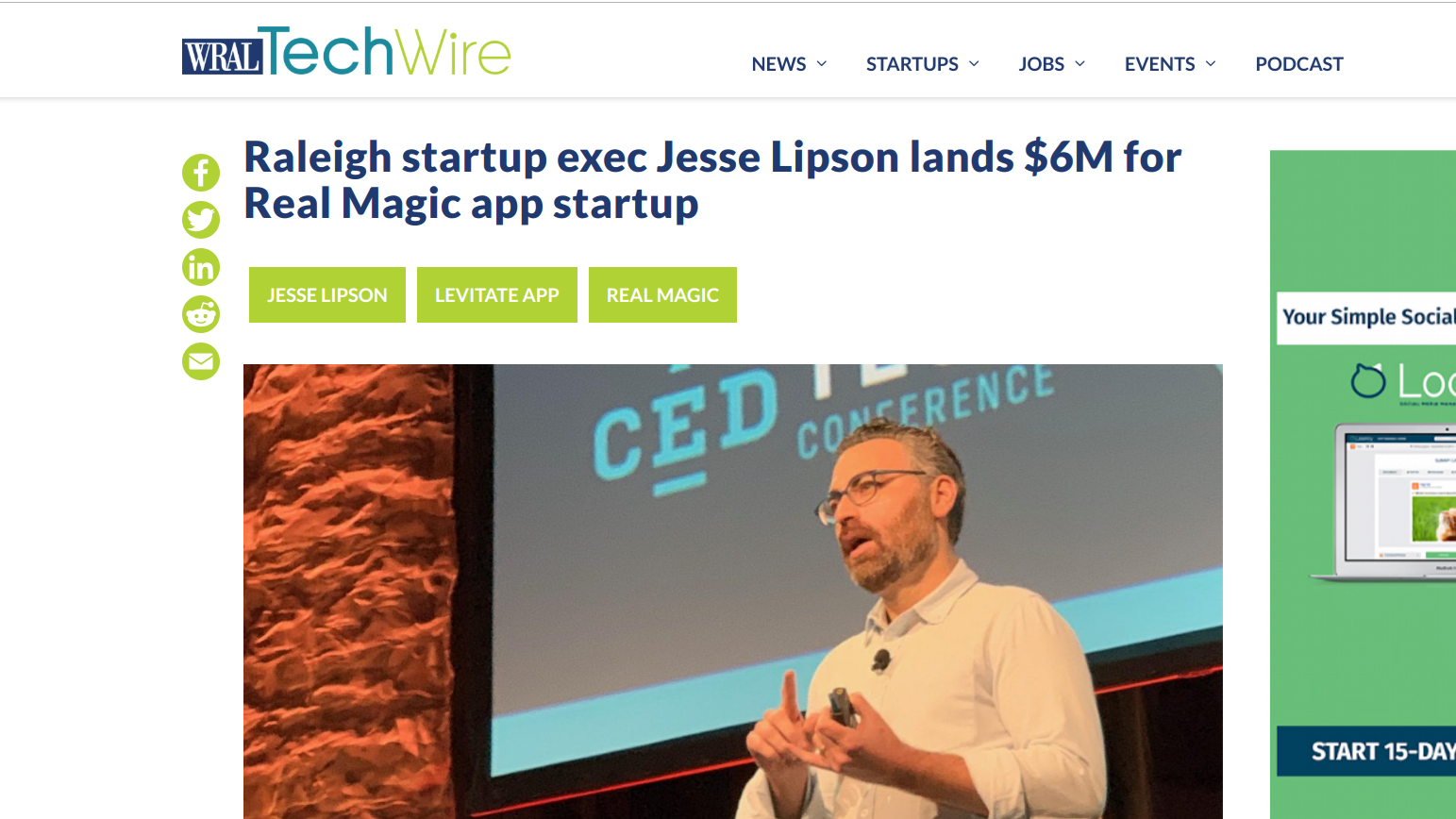 WRAL TechWire Jesse Lipson lands 6M in funding