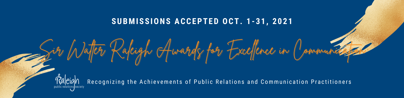 Raleigh Public Relations Society - Awards Submissions Banner - 2021